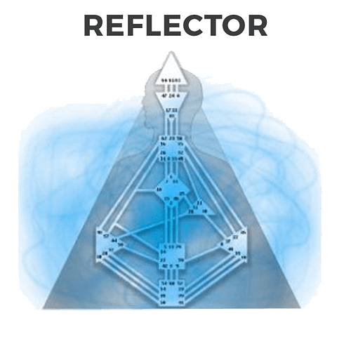 Los 4 tipos en Diseño Humano, el Reflector