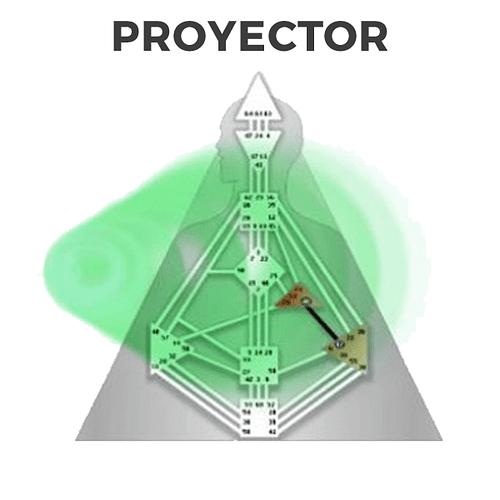 Los 4 tipos en Diseño Humano, el Proyector